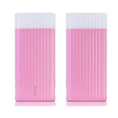 Remax IceCream 10000mAh Power Bank 1/2.1A + LED apgaismojums, rozā