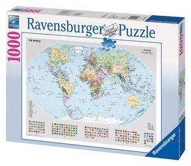 Пазл Ravensburger политическая карта мира, 1000 деталей