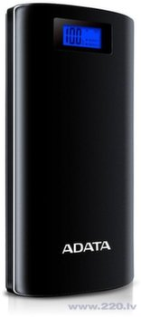 ADATA P20000D Power Bank, 20000mAh, LED flashlight, black(чёрный)