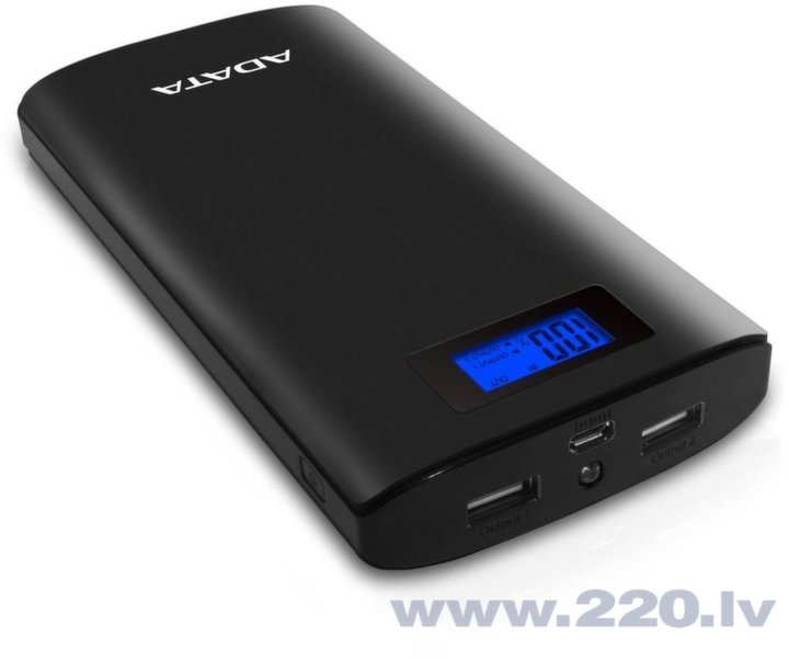 ADATA P20000D Power Bank 20000mAh, Melns cena