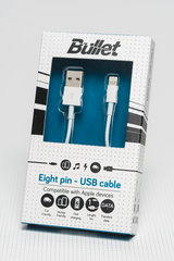 Kabelis lightning-USB 1m, Balts