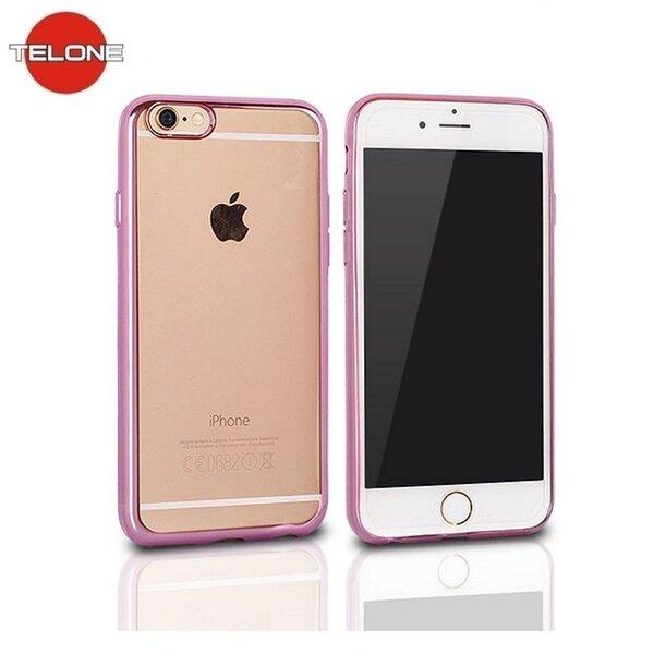 Telone Супер тонкий силиконовый чехол для мобильного телефона LG K5 X210 с розовой рамочкой