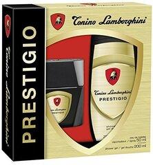 Komplekts Tonino Lamborghini Prestigio: edt 50 ml + dušas želeja 200 ml cena un informācija | Smaržu komplekti | 220.lv