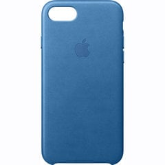 iPhone 7 Leather Case - Sea Blue, Model