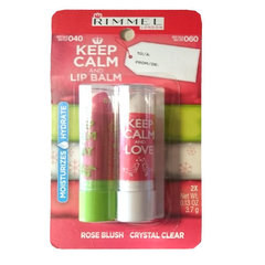 Комплект бальзама для губ Rimmel Keep Calm And Lip Balm 2 x 3.7 г