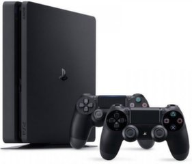 Sony Playstation 4 (PS4) Slim, 1TB + 2 tālvadības pultis cena un informācija | Spēļu konsoles | 220.lv