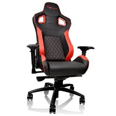 THERMALTAKE GTF 100 red Gaming Chair GT-Fit Officechair for P. 179-185cm high seat height 47.5-57.5cm tilt function, up to 120kg
