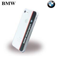 Plāns silikona aizmugures apvalks BMW BMHCP7TVNA Vertical Logo priekš Apple iPhone 7 (4.7inch) Caurspīdīgs/Tumši zils