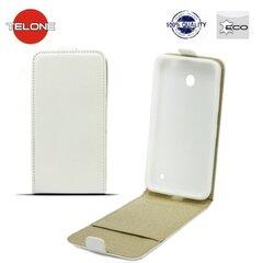 Vertikāli atverams telefona maciņš Telone Shine Pocket Slim Flip Case priekš Samsung J120F Galaxy J1 (2016) Balts