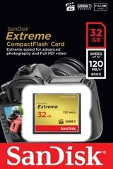 SanDisk CompactFlash Extreme 32GB 120MB/s