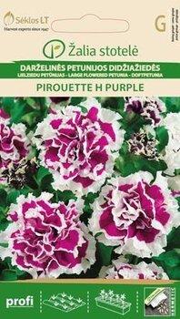 Lielziedu petūnija Pirouette H Purple cena un informācija | Puķu sēklas | 220.lv
