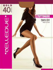 Sieviešu zeķubikses Elledue Gold 40 DEN, gaiši brūnas