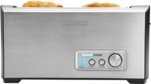 Gastroback Toaster PRO 4S 42398 Stainless Steel/ black, Stainless steel, 1500 W, Number of slots 4, Number of power levels 9, Bun warmer included