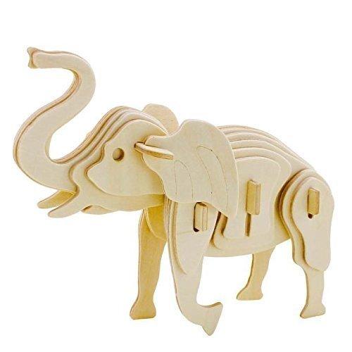 """3D деревянный пазл """"Цветной слон"""" 27 эл., 41639"""