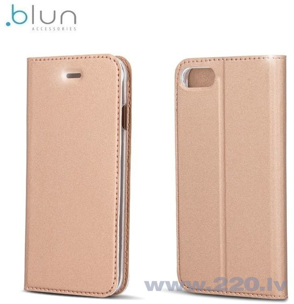 Чехол-книжка Blun Premium Matt для Sony Xperia E5 Золотисто-розовый