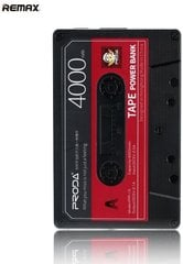 Ārējās uzlādes akumulators Powerbank Remax PPP-15 Proda Old Audio Tape Design 4000 mAh Melns