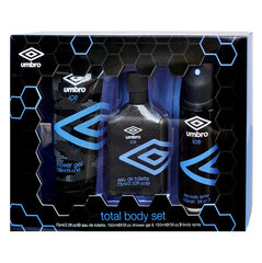 Komplekts Umbro Ice: edt 75 ml + dušas želeja 150 ml + dezodorants 150 ml