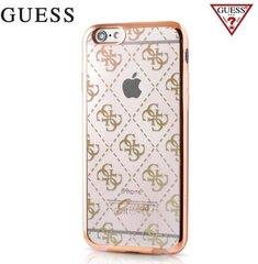 Aizmugurējais apvalks GUESS Ultra Thin Back Case priekš Apple iPhone 5/5S/SE Zeltains cena un informācija | Maciņi, somiņas | 220.lv