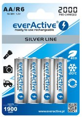 everActive Silver Line Ready to Use 2000mAh AA, 4 gab.