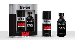 Tualetes ūdens vīriešiem BI-ES EGO BLACK: Men EDT 100 ml + dezodorants 150 ml