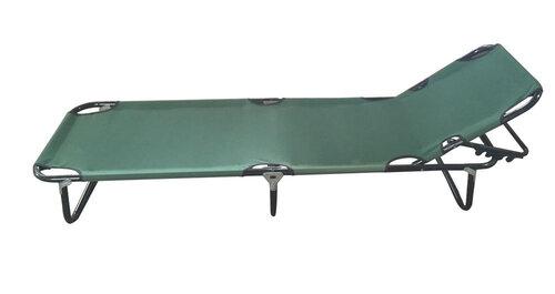 Лежак Camp, зеленый цена и информация | Sauļošanās gultas | 220.lv