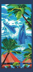 Pludmales dvielis Delfīni