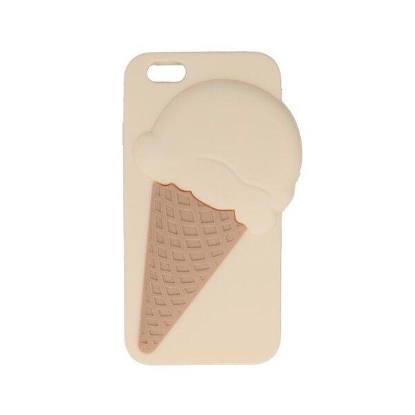 Silikona aizmugurējais apvalks Mocco 3D priekš Samsung (G920) Galaxy S6, Ice cream, Brūns