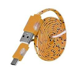 LED провод Mocco Type-C-USB 1м, Оранжевый