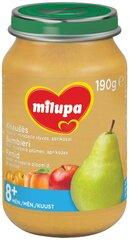 Bumbieru, ābolu, plūmju un aprikožu biezenis Milupa, 8 mēn+, 190 g cena un informācija | Biezeņi | 220.lv