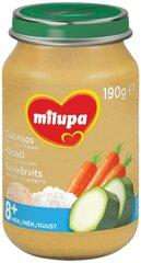 Тунец, рис, кабачки и морковь пюре Milupa, 8 мес+, 190 г цена и информация | Детское пюре | 220.lv