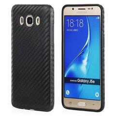 Aizmugurējais aizsargapvalks Qult Luxury Carbon Back priekš Samsung A510 A5 (2016), Melns cena un informācija | Maciņi, somiņas | 220.lv