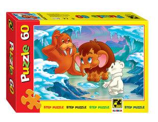 "Пазл Step Puzzle 60  ""Мама для мамонтёнка"""