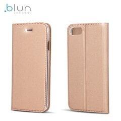 Чехол - книжка Blun Premium Matt Eco-leather Smart Magnetic Fix Book Case для Huawei P10 Lite, Золотисто-розовый