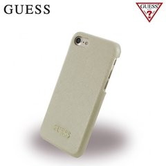 Aizmugures aizsargapvalks GUESS GUHCP7TBE Saffiano Collection Hard Back case priekš Apple iPhone 7 4.7inch, Bēša