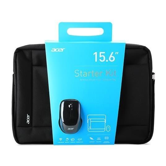 Acer - Notebook Starter Kit: soma priekš portatīvā datora līdz 15.6'' + Pele
