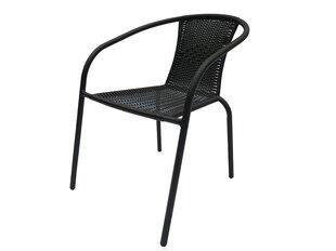 Krēsls Patio Bistro Plus, melns cena un informācija | Dārza krēsli | 220.lv