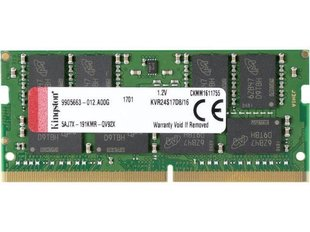 Kingston - DDR4 SODIMM 16GB/2400 CL17 2Rx8