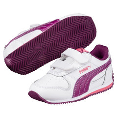 Puma sporta apavi Fieldsprint L V PS, White-Dark Purple