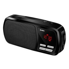 Sven PS-50 Portable Speaker System with Micro SD / Radio / Aux / LCD Display Black