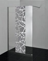 Dušas siena Liveno Negro, 195x100 cm cena un informācija | Dušas siena Liveno Negro, 195x100 cm | 220.lv