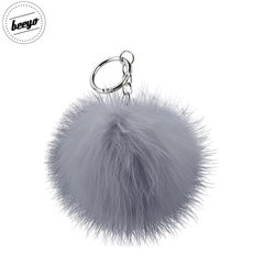 Piekariņš Beeyo Soft Fluffy Ring the Pompom & Smartphone Finger Holder and Stand Gadget pelēks/zelta
