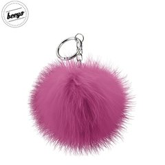 Piekariņš Beeyo Soft Fluffy Ring the Pompom & Smartphone Finger Holder and Stand Gadget rozā/sudraba