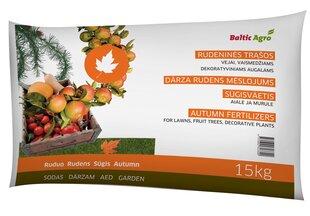 Baltic Agro осеннее удобрение для огорода, 15 кг цена и информация | Сыпучие удобрения | 220.lv
