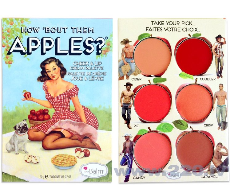 Lūpu krāsa un sārtumu palete TheBalm Cosmetics How Bout Them Apples? 20 g