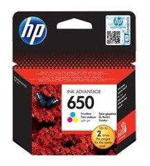 HP 650 Ink CZ102A Цветной чернильный картридж