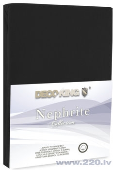 DecoKing jersey Nephrite Black collection palags ar gumiju, 200x200 cm