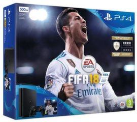 Sony PlayStation 4 Slim, 500GB + Fifa 18