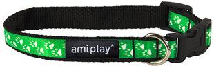 Amiplay регулируемый ошейник Joy, M, зеленый цена и информация | Поводки, ошейники и подтяжки для собак | 220.lv