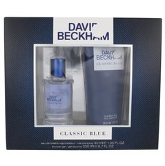 Komplekts David Beckham Classic Blue: EDT 40 ml + dušas želeja 200 ml цена и информация | Мужские духи | 220.lv