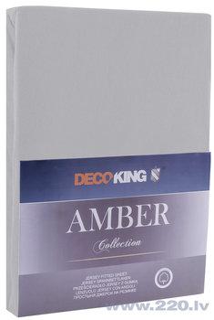 DecoKing трикотажная Amber Steel простынь с резинкой, 200x220 см цена и информация | Простыни | 220.lv